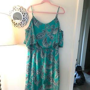 Bisou Bisou Seafoam Green Maxi Dress Size 16